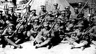 Photograph of the British West Indies Regiment at camp