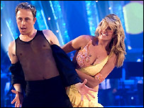 Ian Waite and Penny Lancaster in 2007
