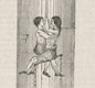 Going down a coal mine. This 1842 drawing shows two children being lowered on the end of a long rope.