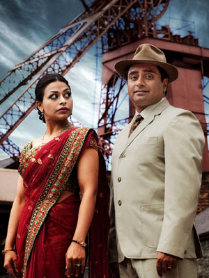 Sanjeev Bhaskar as Dr Prem Shama with his on-screen wife, Kamini Sharma, played by Ayesha Dharker