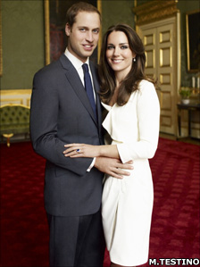 This photograph was taken by Mario Testino as one of the official portrait photographs for the engagement of Prince William and Miss Catherine Middleton
