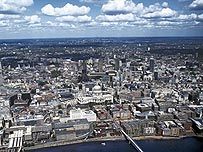Aerial photo of London