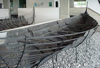 Photo of one of the Roskilde Viking ships