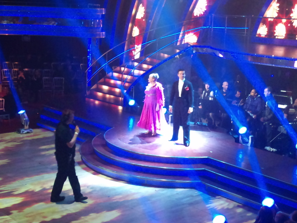Ann Widdecombe and Anton du Beke in the Strictly dress rehearsals