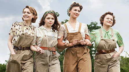 Christine Bottomley, Jo Woodcock, Summer Strallen and Becci Gemmell in Land Girls