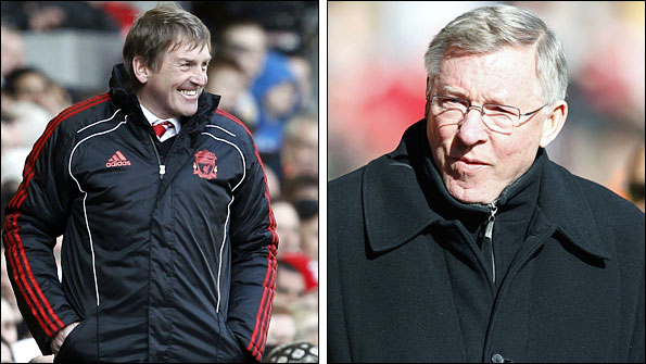 Liverpool manager Kenny Dalglish and Manchester United boss Sir Alex Ferguson
