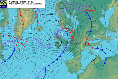 Met Office weather chart