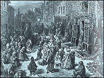 Gustave Dore print of Dudley Street in St Giles