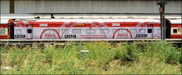 bbc india election train
