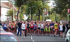 The start of the Wolverhampton Marathon