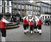 Claro Sword and Morris Men celebrating Plough Sunday in Knaresborough