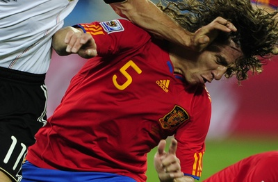 Carlos Puyol's head got Spain into the final - JOHN MACDOUGALL/AFP/Getty Images