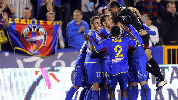 Levante squad celebrating