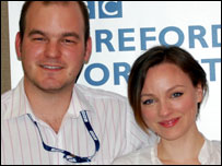 Andrew Easton with Melanie Gutteridge