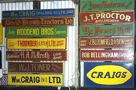 Signs from local businesses, many no longer in existence.