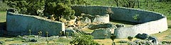 The Great Zimbabwe ruins are made of granite and stand as high as 20 metres in some places