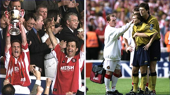 The triumph and the glory... Charlton beat Sunderland in 1998 in one of the great play-off games