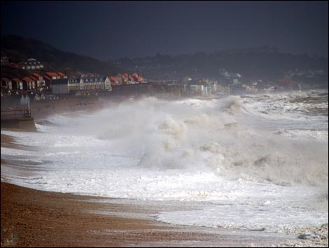 The storms in Sandgate. By Kevin Gipson.