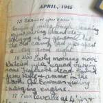 Diary entries for the 15th to the 18th of April 1945