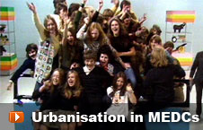 Watch 'Urbanisation in MEDCs' video