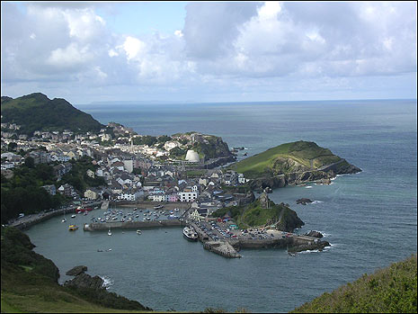 A view of Ilfracombe from the coast path