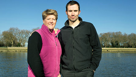 Clare Balding and Andrew Cotter
