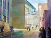 Artists impression of the Royal & Derngate