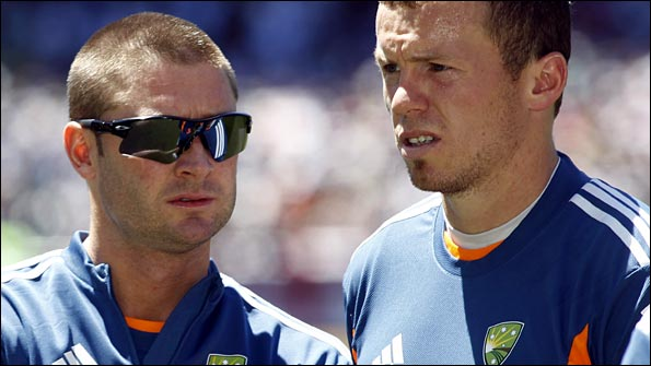 Michael Clarke and Peter Siddle