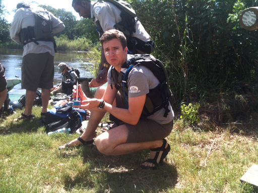 Greg James in Africa