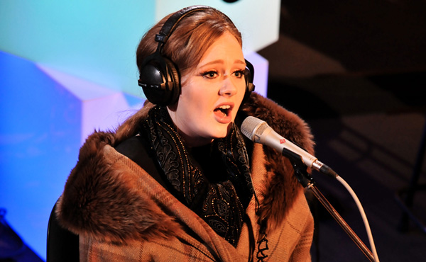 Adele appearing in the Radio 1 Live Lounge during 2010