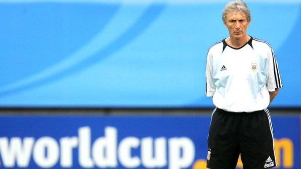 Jose Pekerman as coach of the Argentine national team