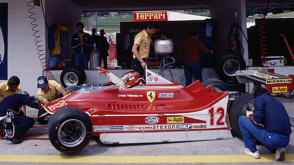 Gilles Villeneuve in the 1979 Ferrari 312T4