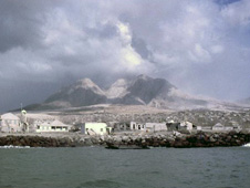 Plymouth covered in ash from volcanic eruptions on Montserrat