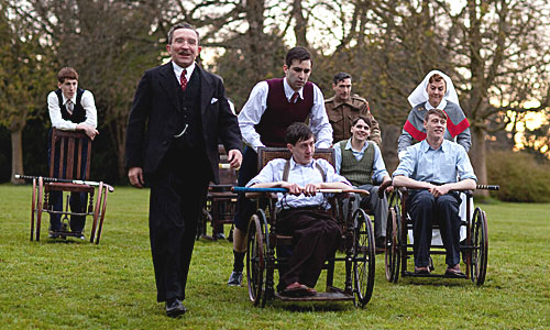 Dr Guttmann (Eddie Marsan, 2nd left), Jeremy (David Proud), Sister Edwards (Naimh Cusack) and Will
