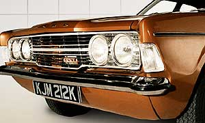 Ford Cortina - one of the stars in Life on Mars