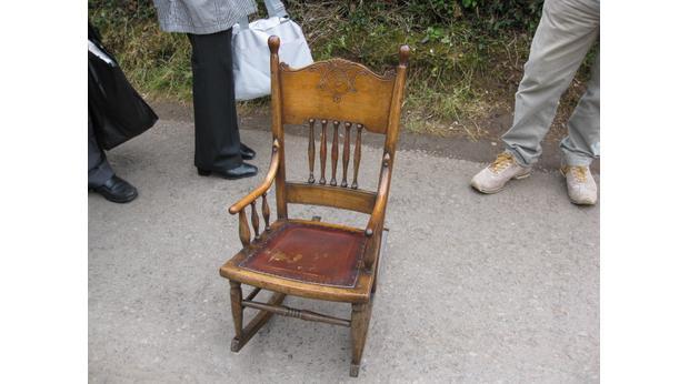 Childu0027s Wooden Rocking Chair