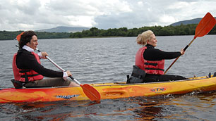 Image of Laurence and Jackie out on the lough