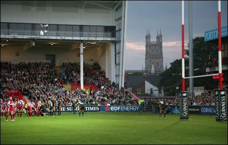 Gloucester playing at Kingsholm Stadium (Getty)
