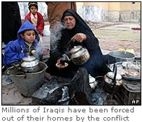 Millions of Iraqis have been forced out of their homes by the conflict