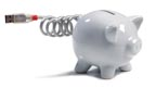 Piggy bank with USB tail