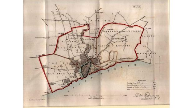 Map Of Uk Hull.Bbc A History Of The World Object Map Of Hull Circa 1832