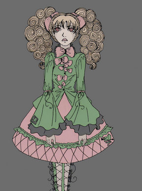 Manga lolita Gothic &