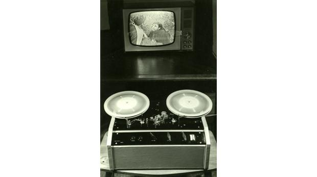 The Telcan domestic video recorder designed and built by the Nottingham Electric Valve Company in 1963 © NCMG
