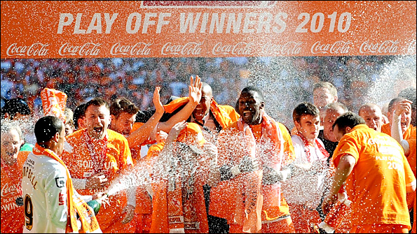 Blackpool celebrate their fairytale success