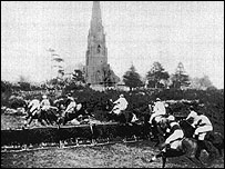 Steeplechase at Galleywood racecourse