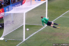Frank Lampard's 2010 goal in the World Cup