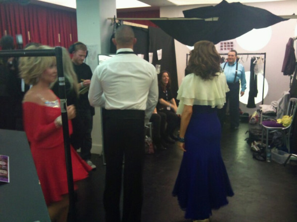 Back stage at Strictly Come Daning