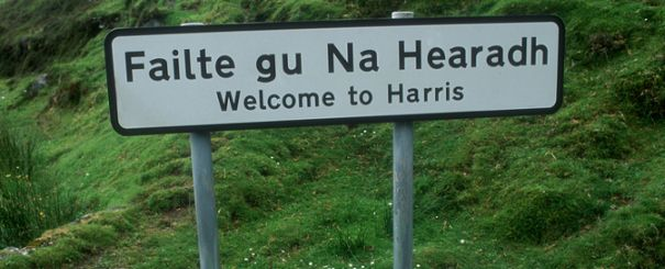 Gaelic sign in Harris