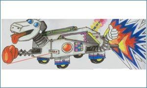 The winning design -  XX2000 Robot Dog