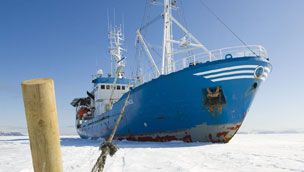 The RV Lance, the Arctic expedition boat